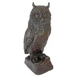 The Wise Owl Bronze Garden Statue