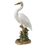 The Great White Egret Garden Statue