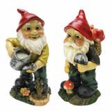 Gulliver and Mushroonie Garden Gnome Statue Set