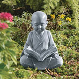 Baby Buddha Studying Five Precepts Statue in the Garden