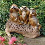 The Meerkat Menagerie Welcome Sculpture in the Garden