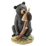 Honey Curious Black Bear Cub Statue