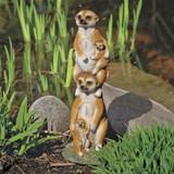 Meerkat Generations Statue in the Garden