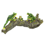 Froggy Business Garden Statue
