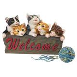 Kitten Kaboodle Cat Welcome Garden Sign
