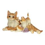 Kitten Crowd Cat Family Statue