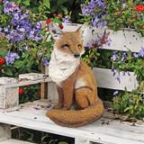 Fabian Flamboyant Fox Garden Statue on the Garden Bench