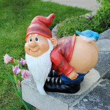 Loonie Moonie Bare Buttocks Gnome Statue Large in the Garden