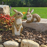 Bashful and Hopper Garden Bunnies Collection Set of Two in the Garden