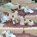 New Kids on the Farm Baby Goat Animal Statue Set of 2 in the Garden