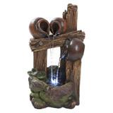 The Cascading Urns of Ravello Illuminated Garden Fountain