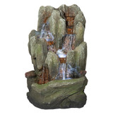 Lost Falls Cascading Waterfall Illuminated Tabletop Water Fountain