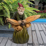 Butterfly Back Gnome Statue in the Garden