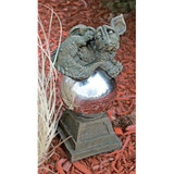 Mayze Dragon Protector Orb Statue in the Garden