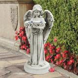 Tranquil Guardian Angel Garden Statue Bird Bath in the Garden