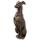 Greyhound Sentinel Cast Iron Dog Garden Statue