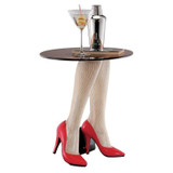 Fishnets Heels Glass Sculptural Plant Stand