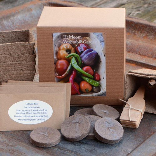 Heirloom Vegetable Garden Gift Box Kit