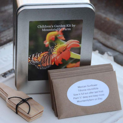 Childrens Gardening Gift Box Seed Kit