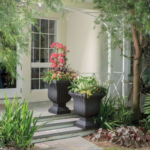 Leyla Urn Planter Outdoors