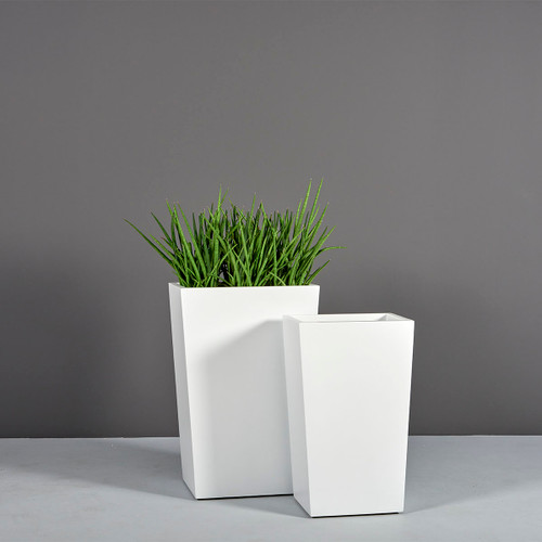 Amsterdam Tapered Rectangular Planters with plants