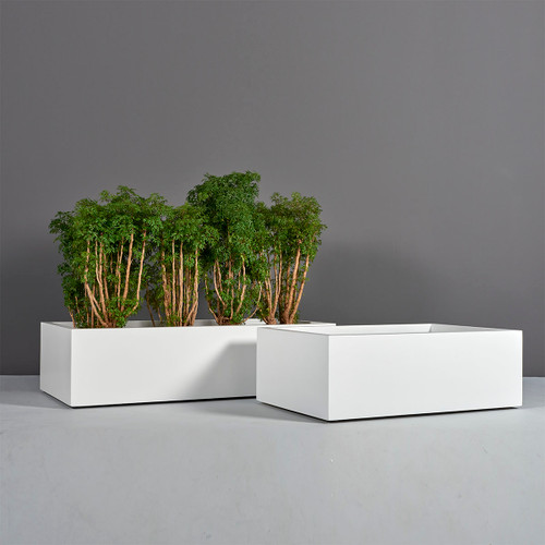 Antwerp Wide Rectangular Planters with plants