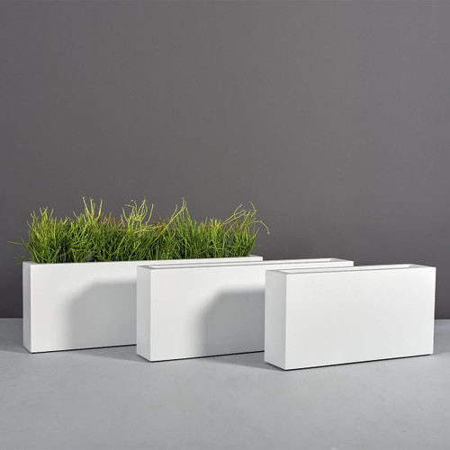 Camoux Narrow Rectangular Planters with plants