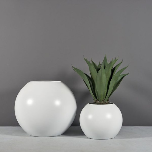Globe Planters with plants