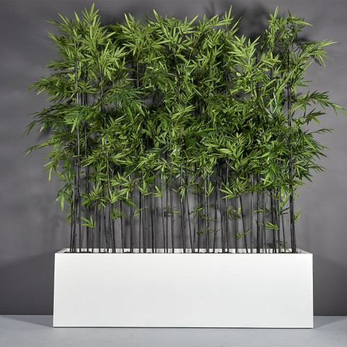 Hudson Extra Long Rectangular Planter with plants