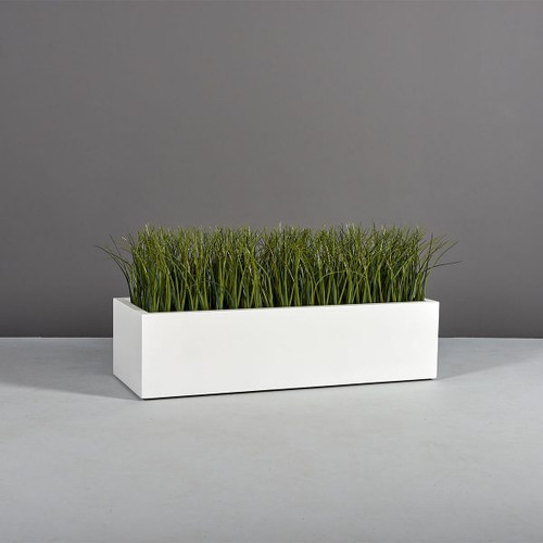 Lyon Rectangle Planter with plants