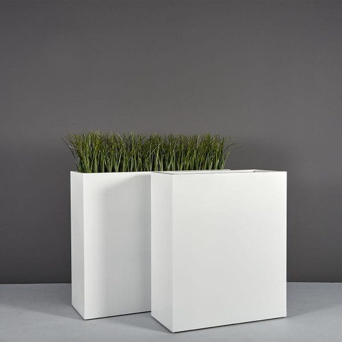 Perth Tall Rectangular Planters with plants