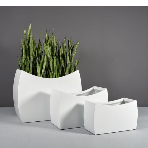Seoul Modern Rectangular Planters with plants