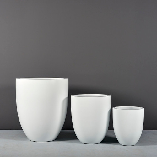 Valencia Tall Round Tapered Planters