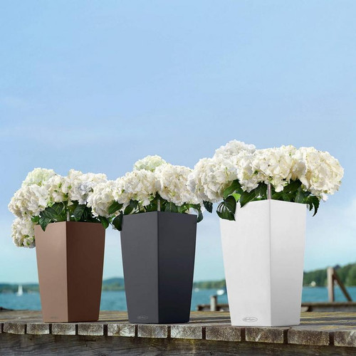 Cubico Color Tall Square Planter Outdoors