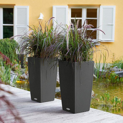 Outdoor Cubico Cottage Tall Square Planters