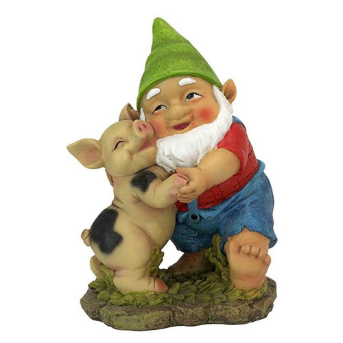 Happy as a Pig in Slop Garden Gnome Statue
