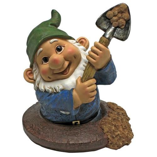 Shoveling Sam Garden Gnome Statue