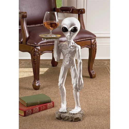 Roswell Alien Butler Plant Stand in the Living Room