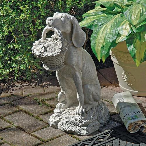 Mans Best Friend Dog Statue in the Garden