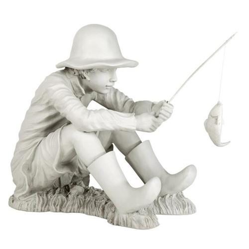 Gone Fishing Fisherman Garden Statue