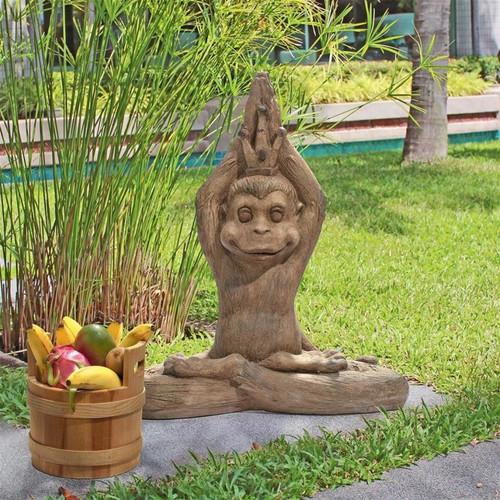 Monkey Mantra Zen Animal Statue in the Garden