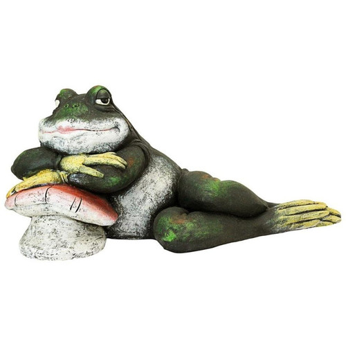 Bert the Flirtatious Frog Garden Toad Garden Statue