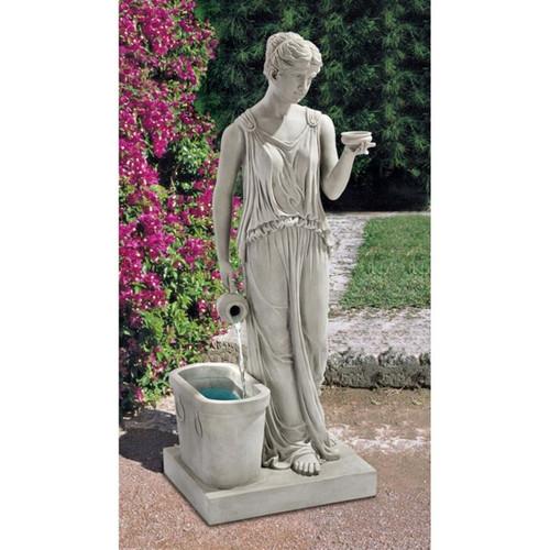 Hebe Goddess Youth Garden Fountain in the Garden