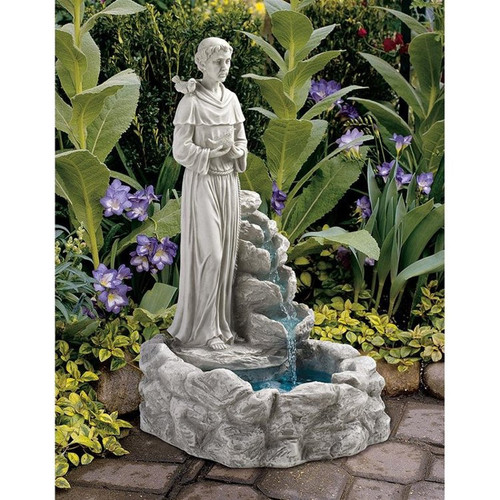 Natures Prayer St Francis Water Fountain in the Garden