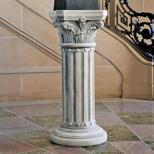 The Athena Corinthian Plant Stand in the Entryway