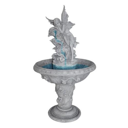 Pixie Fairy Sculptural Bird Bath Garden Fountain