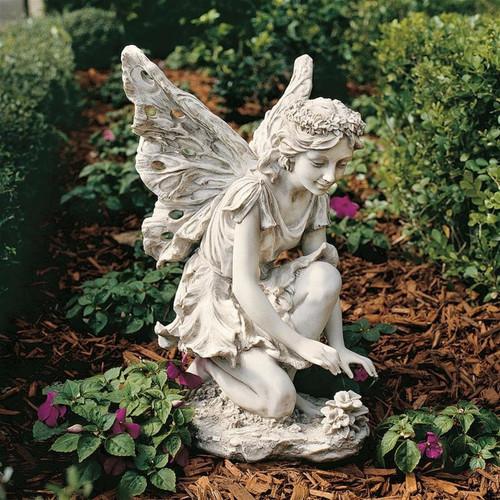 Fiona Flower Fairy Garden Statue in the Garden
