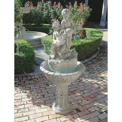 Portare Acqua Italian-Style Sculptural Water Fountain in the Garden