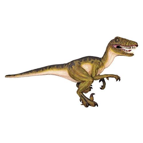 Jurassic-Sized Dromaeosaurus Raptor Dinosaur Garden Statue