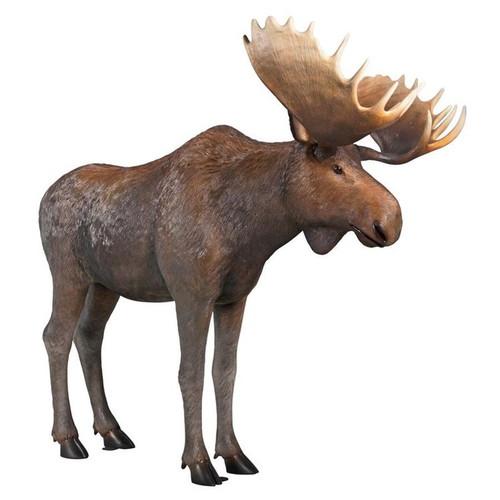 North American Majestic Moose Full Scale Animal Garden Statue